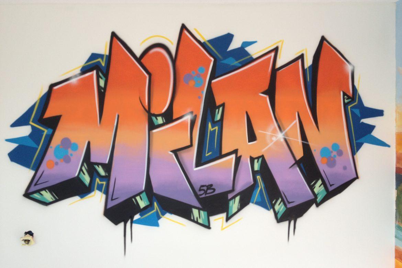 Milan slaapkamer graffiti – VijfB.com