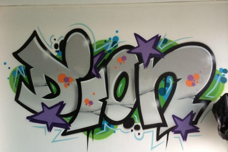 Dion slaapkamer graffiti – VijfB.com